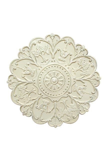 Image of Stratton Home White Shabby White Medallion Wall Decor