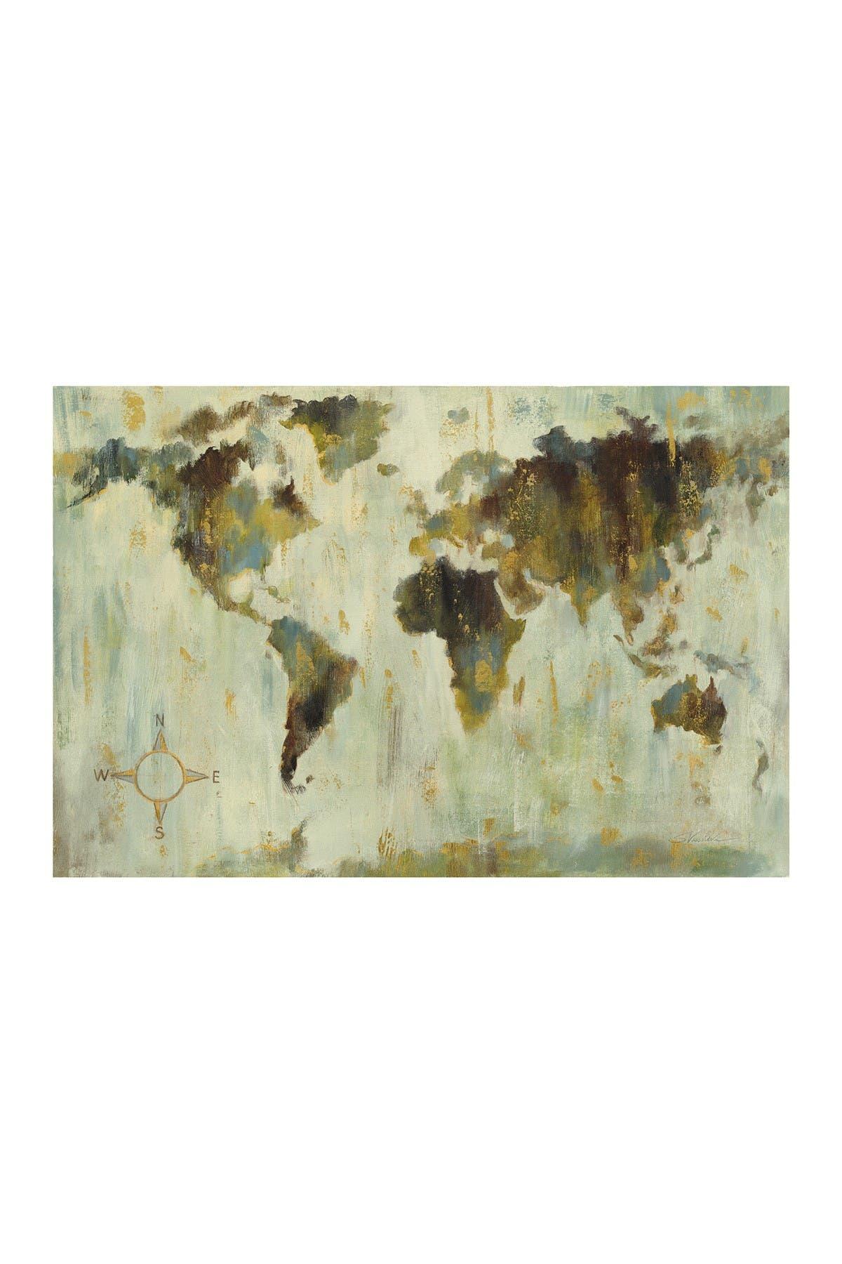COURTSIDE MARKET Bronze World Map 45\\\