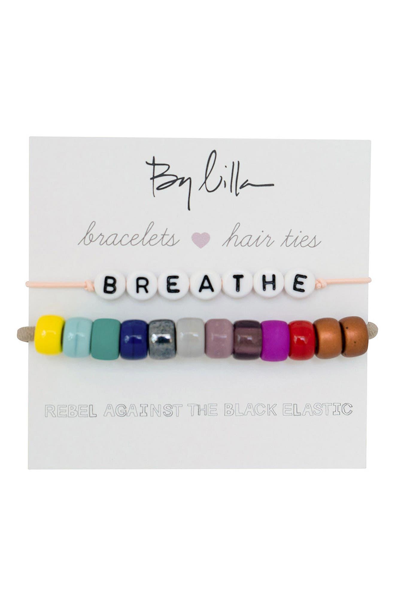 Breathe Set Of 2 Beaded Stretch Bracelets