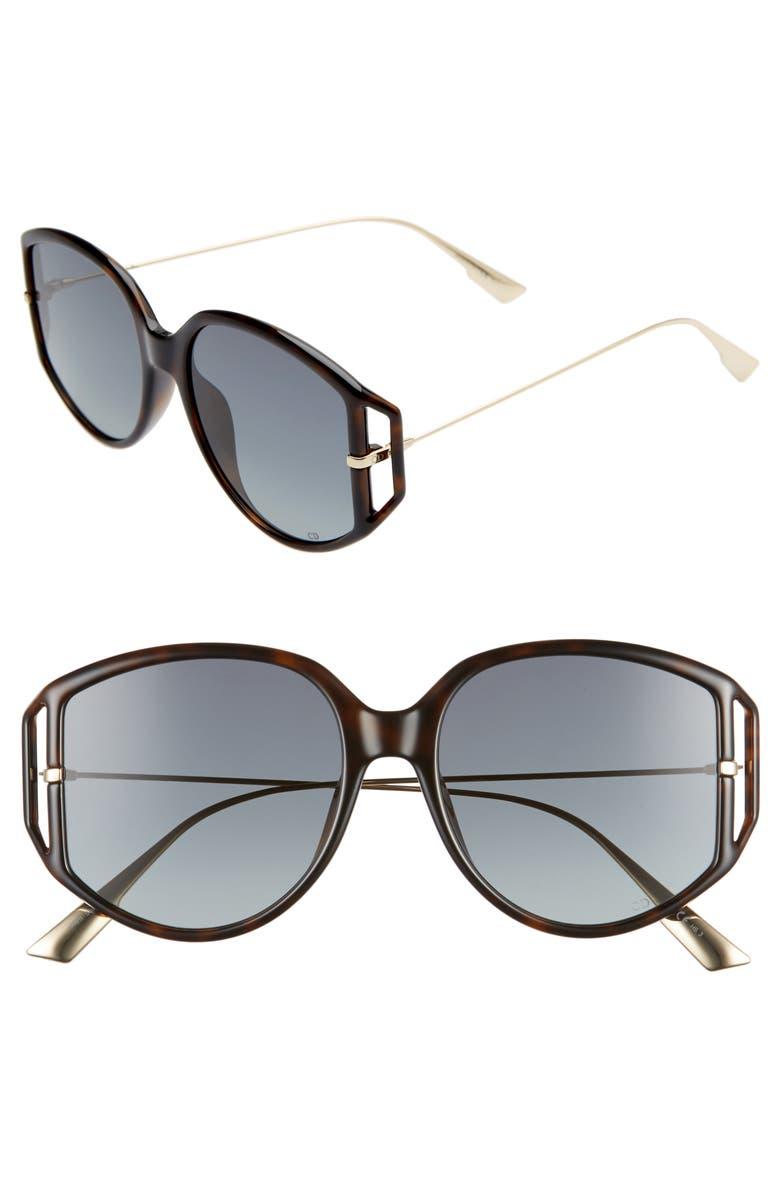 DIOR Directio2S 54mm Oversize Sunglasses, Main, color, DKHAVANA/ GREY