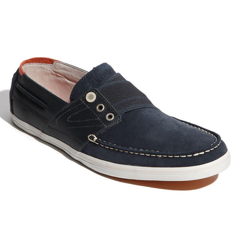 TRETORN 'Smogensson' Suede & Leather Slip-On, Main, color, 001