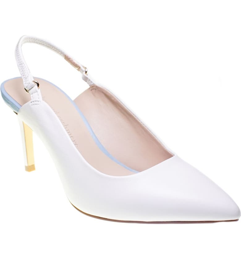 CUPCAKES AND CASHMERE Gemmalyn Pump, Main, color, WHITE LEATHER