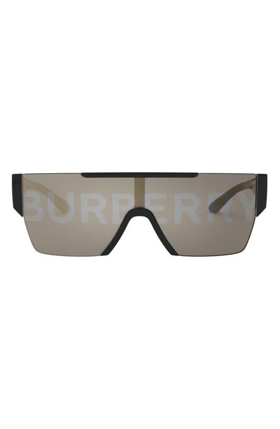 Burberry 38mm Shield Sunglasses In Black/ Silver