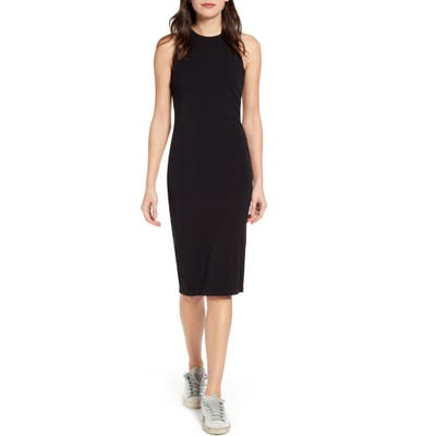 Splendid Stretch Double Face Sleeveless Dress, Black