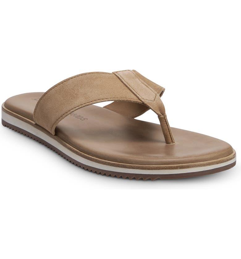 ALLEN EDMONDS Oscar Flip Flop, Main, color, CAMEL