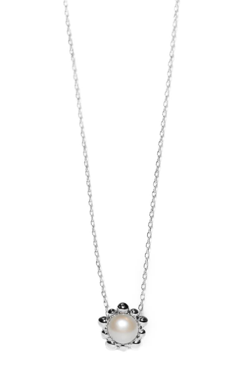 Anzie Dew Drop Pearl Pendant Necklace