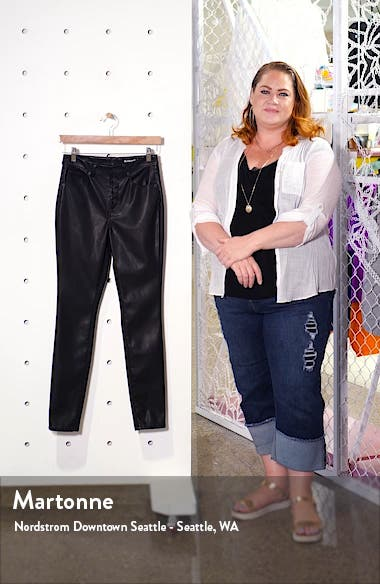 Faux Leather Button Front Pants, sales video thumbnail