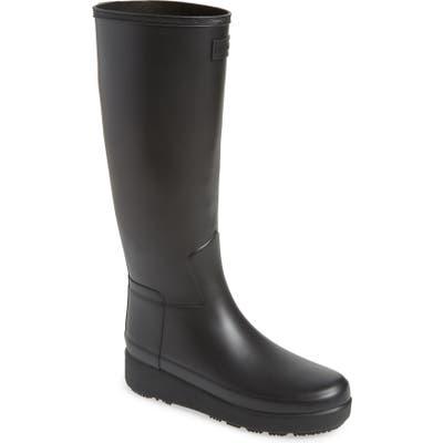 Hunter Refined Creeper Tall Rain Boot, Black