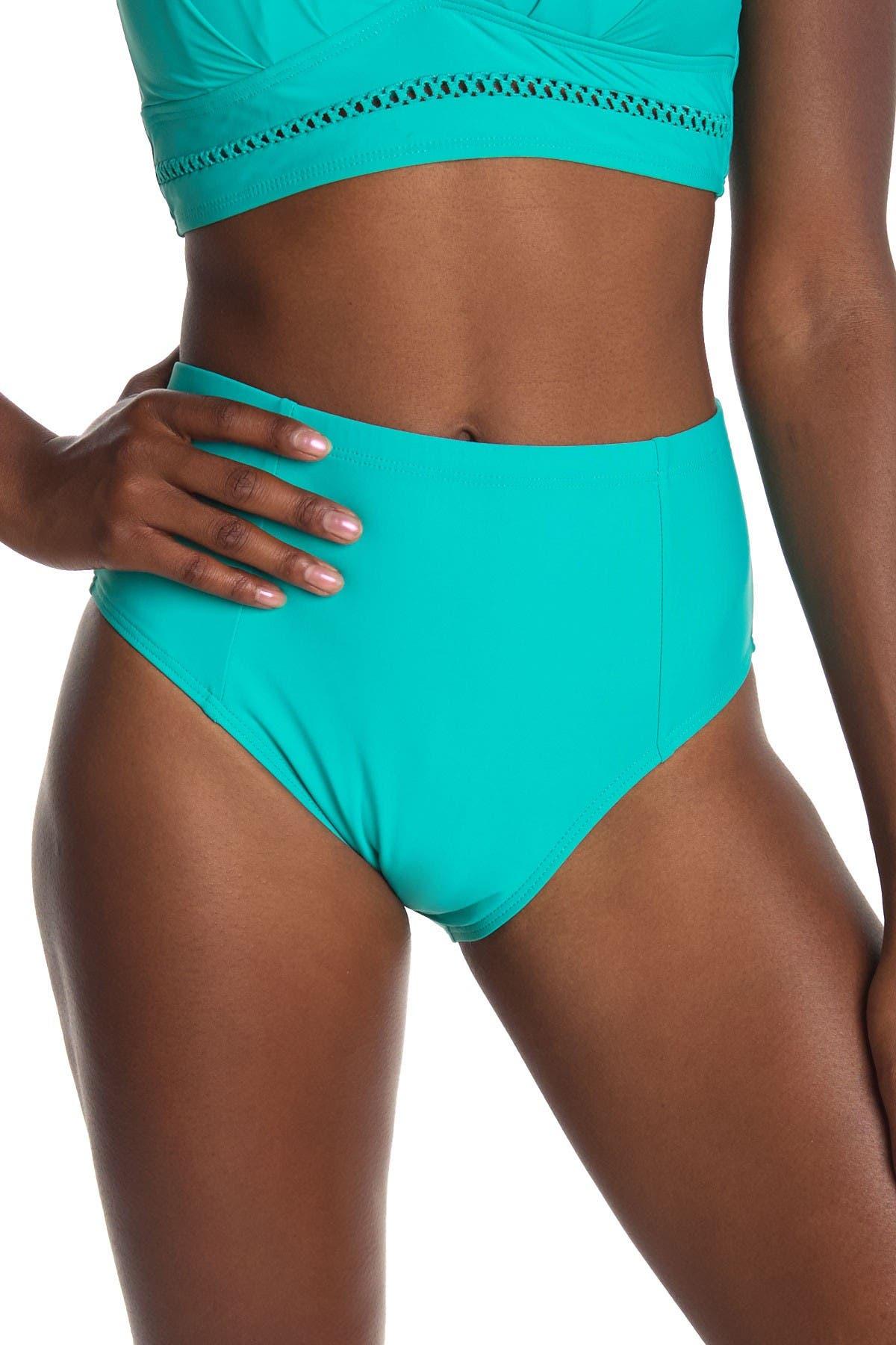 Image of Athena Solid High Waist Swim Pants