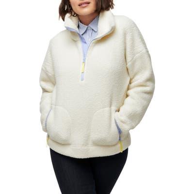 J.crew Polartec Fleece Half-Zip Pullover Jacket, Ivory