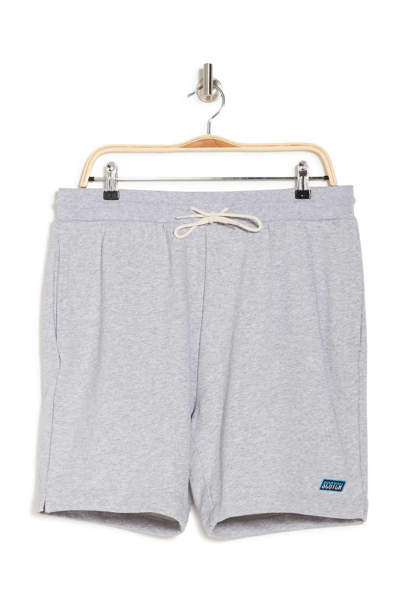 Scotch & Soda Classic Sweat Shorts In 1161-light Grey Mela