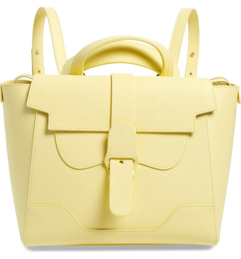 SENREVE Midi Mimosa Maestra Leather Satchel, Main, color, CHIFFON