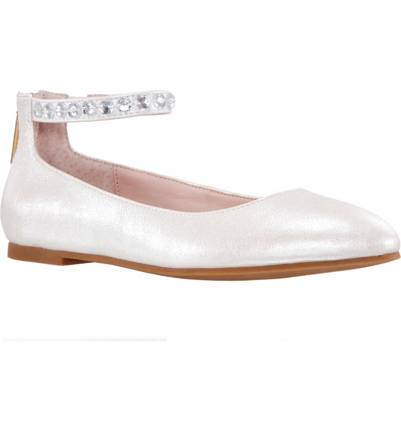 NINA Mimi Crystal Strap Ballet Flat, Main, color, 900