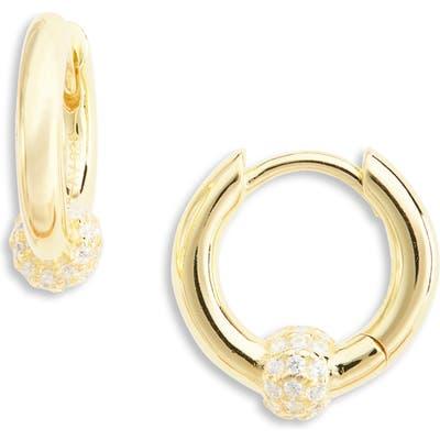 Argento Vivo Cubic Zirconia Ball Huggie Earrings