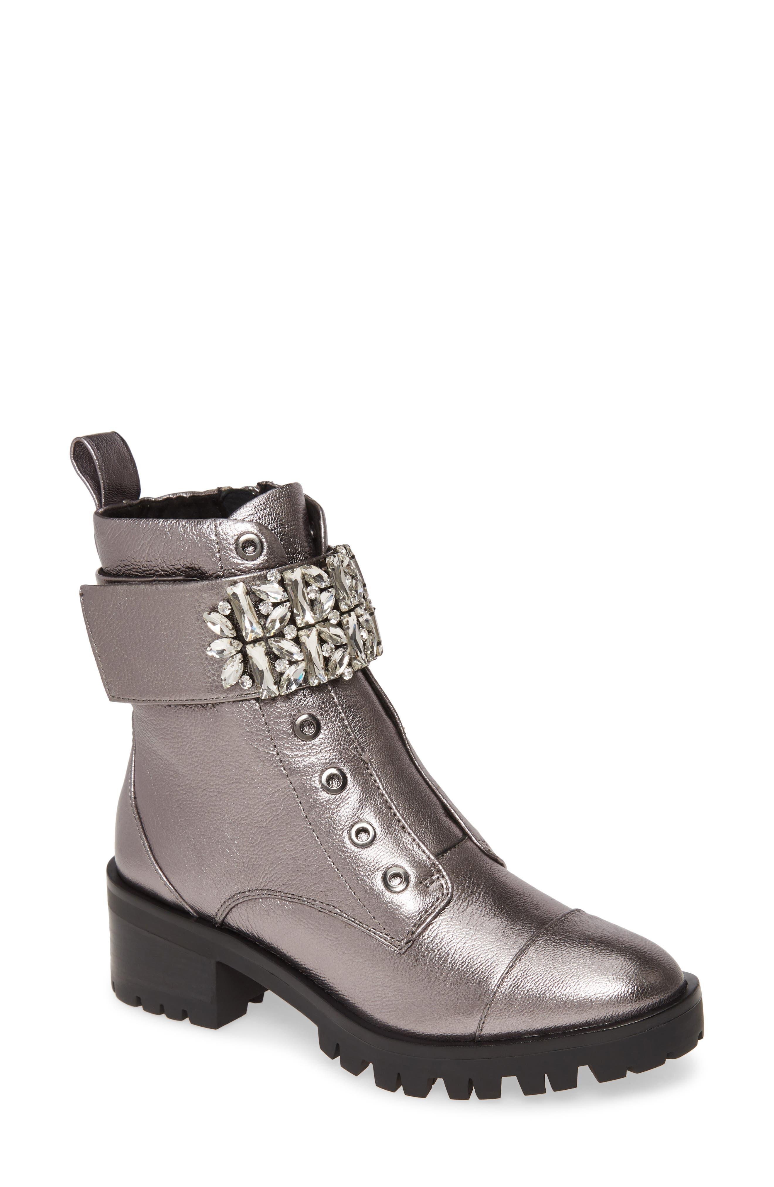 Pippa Crystal Embellished Platform Boot