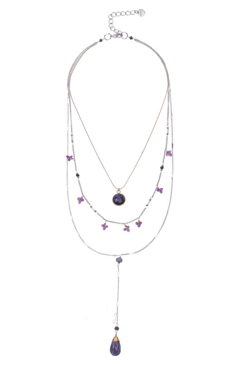 NAKAMOL DESIGN Lapis Layered Necklace, Main, color, BLUE MULTI