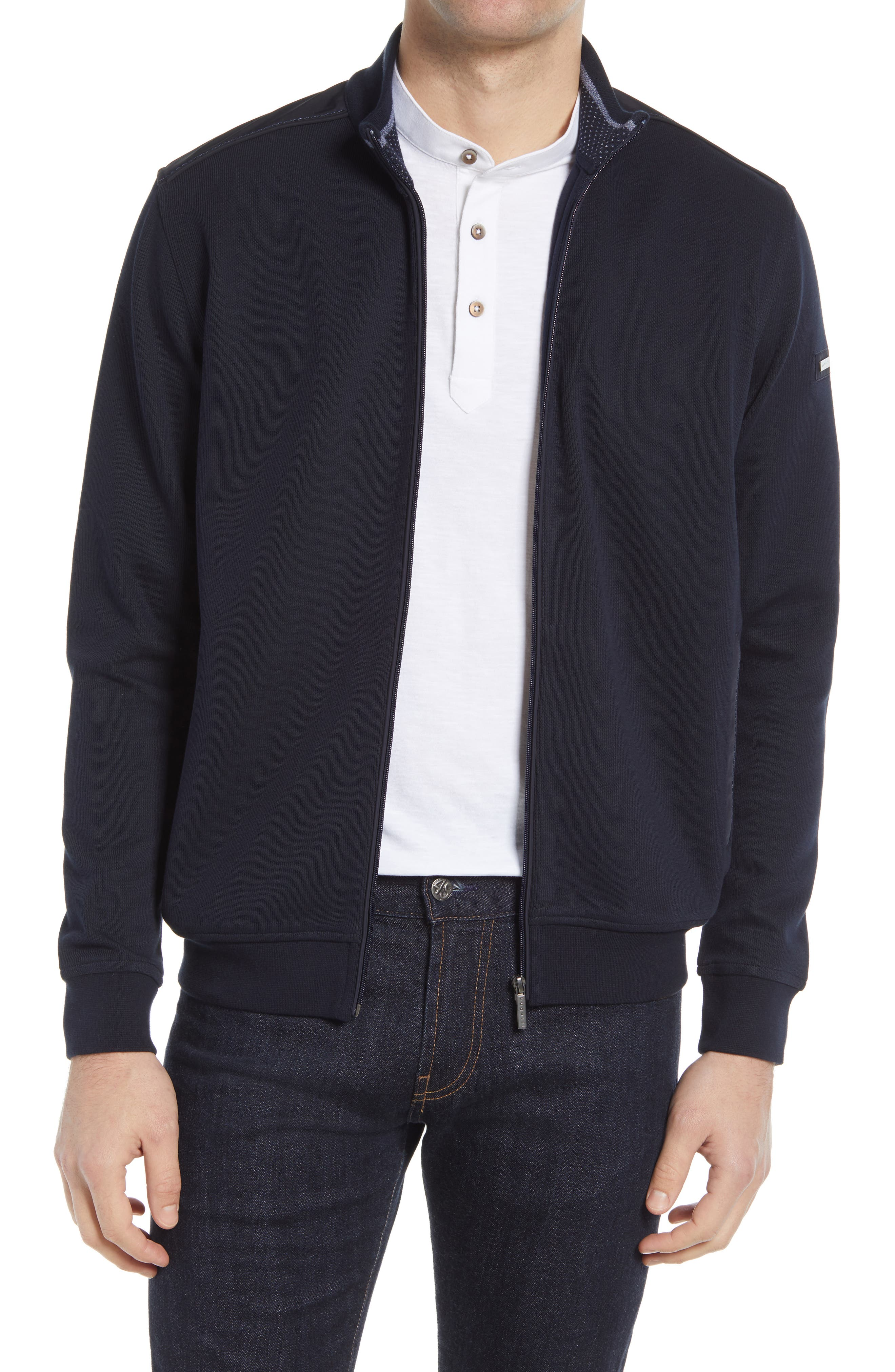 Knit Cotton Blend Jacket