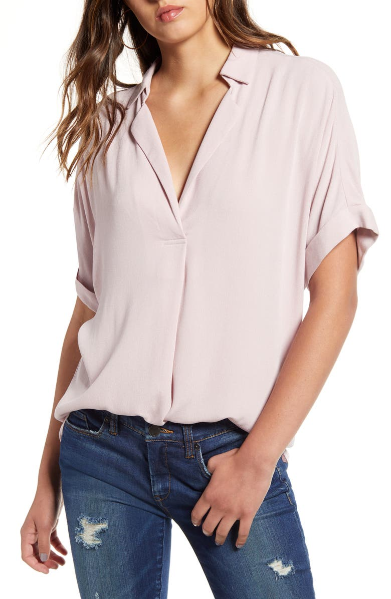 ALL IN FAVOR Button Back Top, Main, color, BURNISHED LILAC