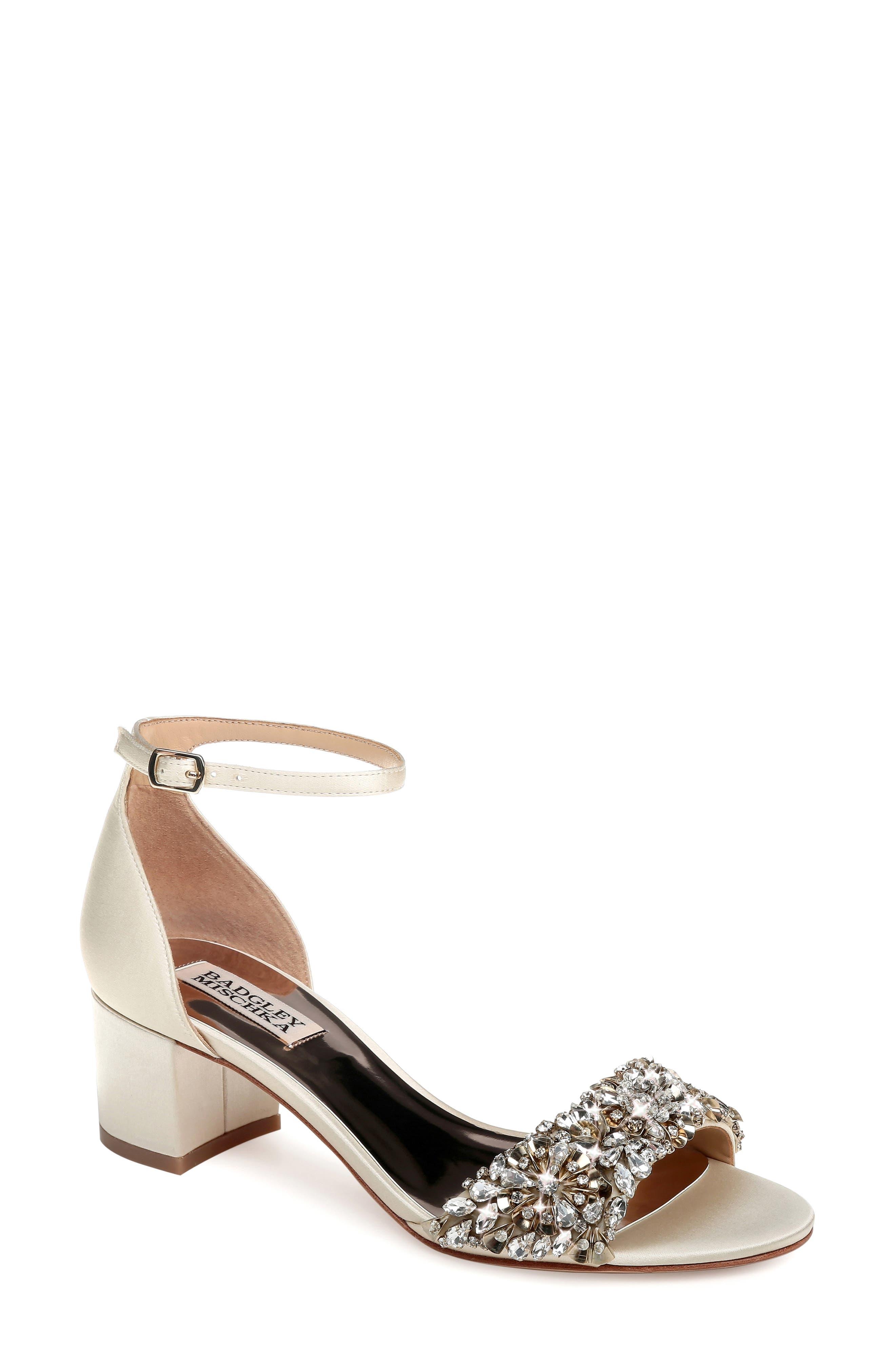 Badgley Mischka Vega Crystal Embellished Sandal