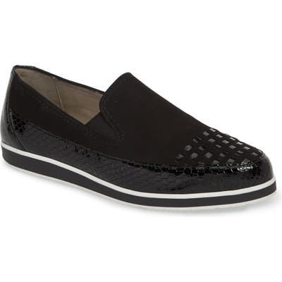 Ara Laurel Slip-On Sneaker- Black