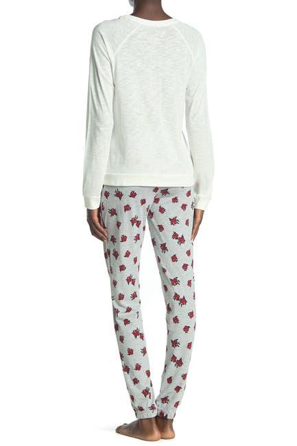 Image of COZY ZOE Floral Shirt & Pants 2-Piece Pajama Set