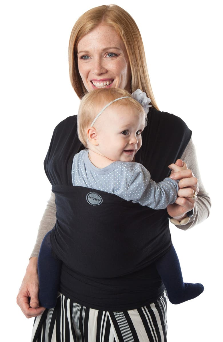 MOBY Evolution Baby Carrier, Main, color, BLACK