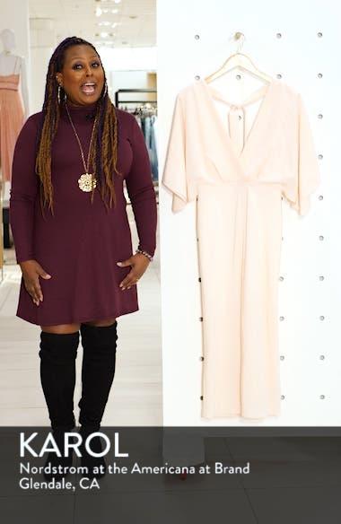 Batwing Plunge Tea Length Dress, sales video thumbnail
