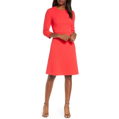 Maggy London Structured Seam A-Line Dress, 8 (similar to 16W) - Red
