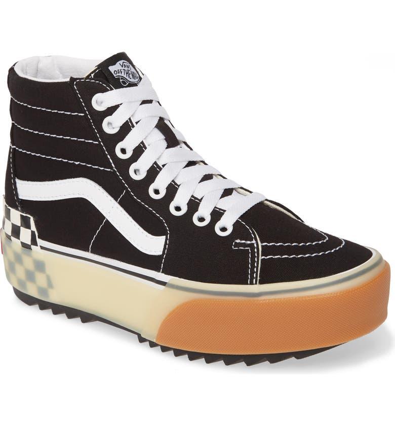 Sk8-Hi Stacked Check Platform High Top Sneaker