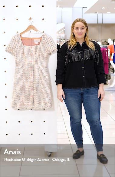Square Neck Bouclé Minidress, sales video thumbnail