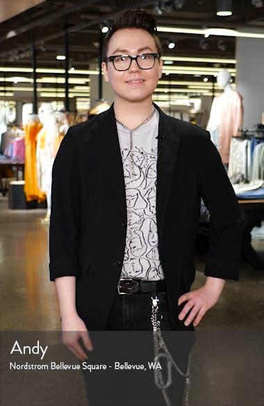 scallop detail tweed jacket, sales video thumbnail