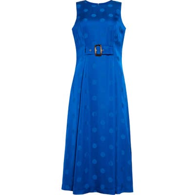 Ted Baker London Innabel Belted A-Line Midi Dress, Blue