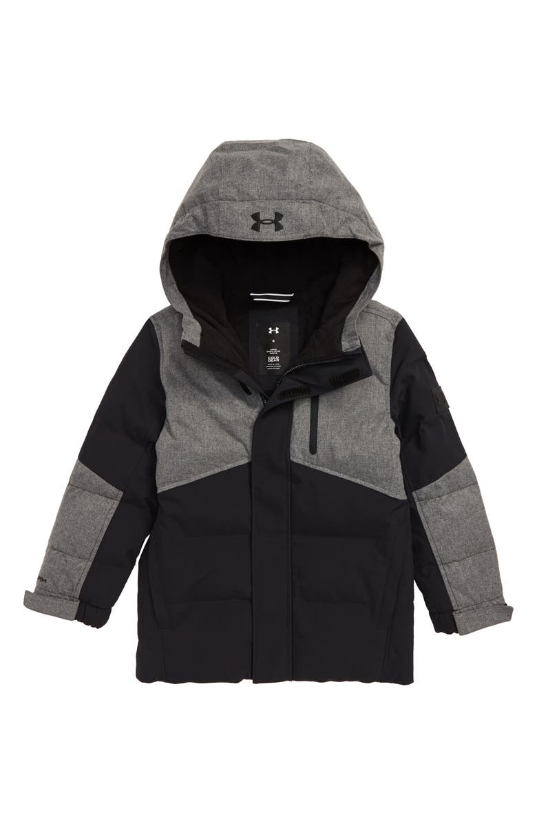 UNDER ARMOUR Superthaw Insulated Waterproof Hooded Jacket, Main, color, BLACK