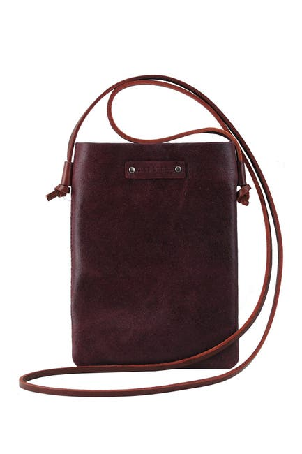 Image of Most Wanted USA Ludvia Cell Phone & Card Pouch Leather Crossbody Bag