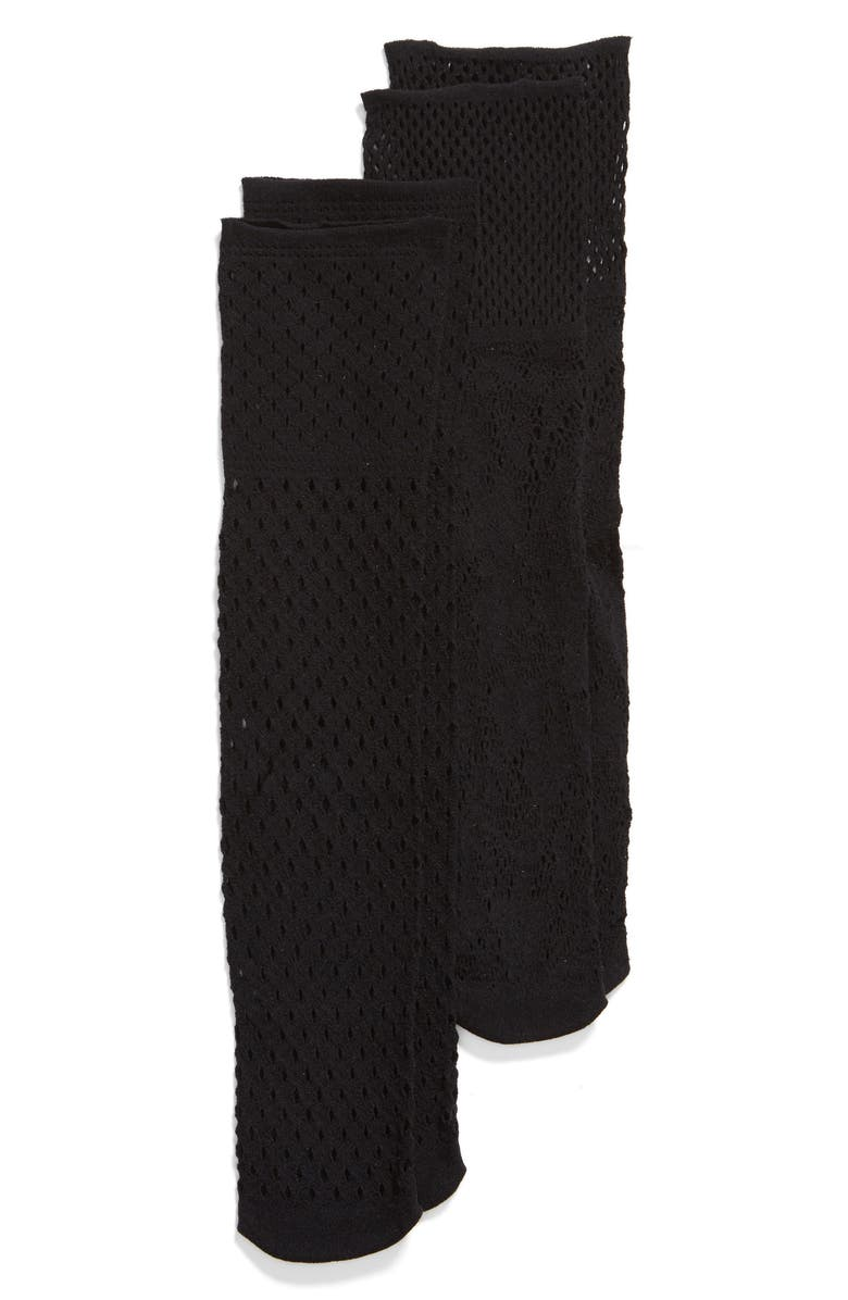 OROBLU 2-Pack Mix Fishnet Socks, Main, color, 001