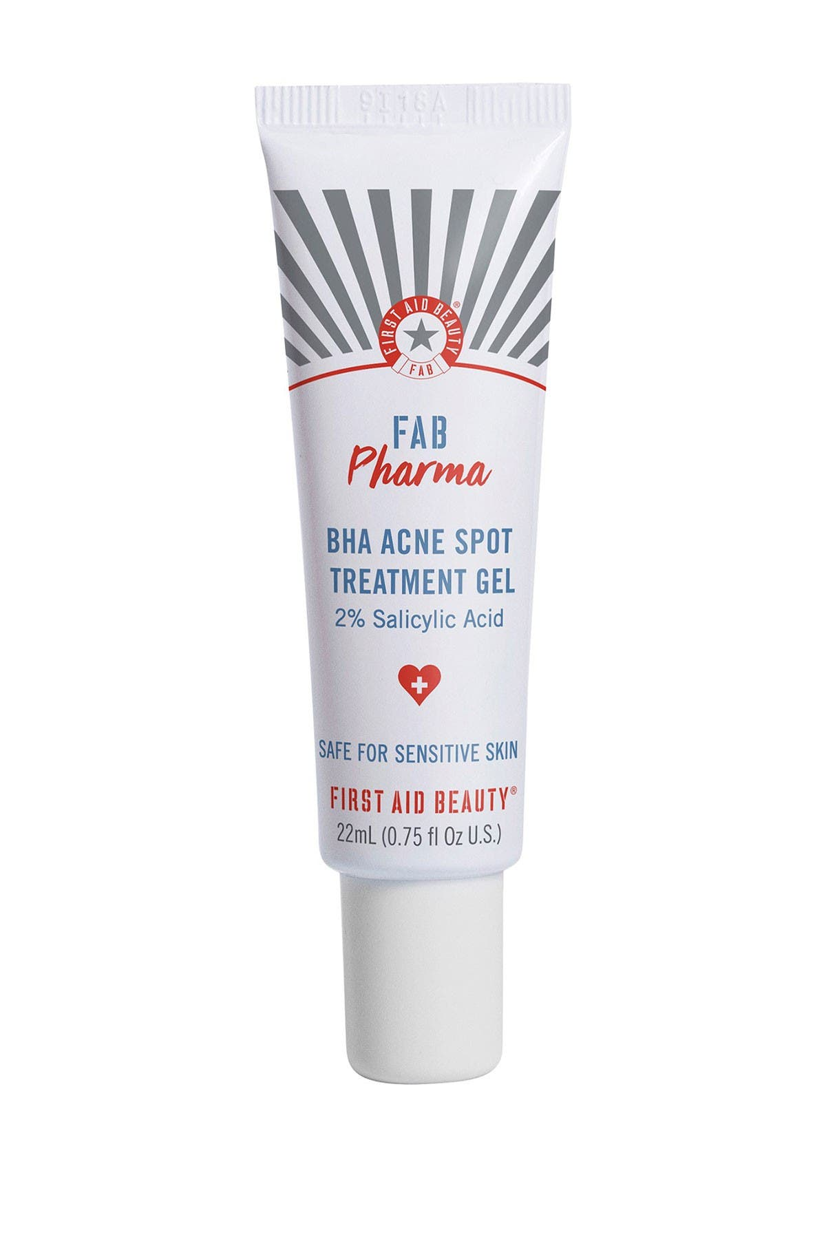 Image of FIRST AID BEAUTY FAB Pharma BHA Acne Spot Treatment Gel 2% Salicylic Acid