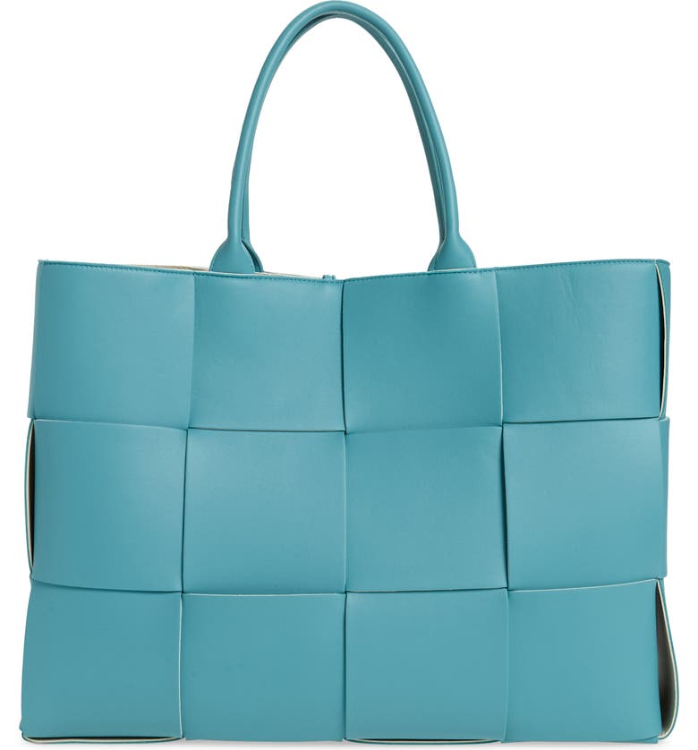 BOTTEGA VENETA Large Arco Intrecciato Leather Tote, Main, color, LINOLEUM/ PLASTER