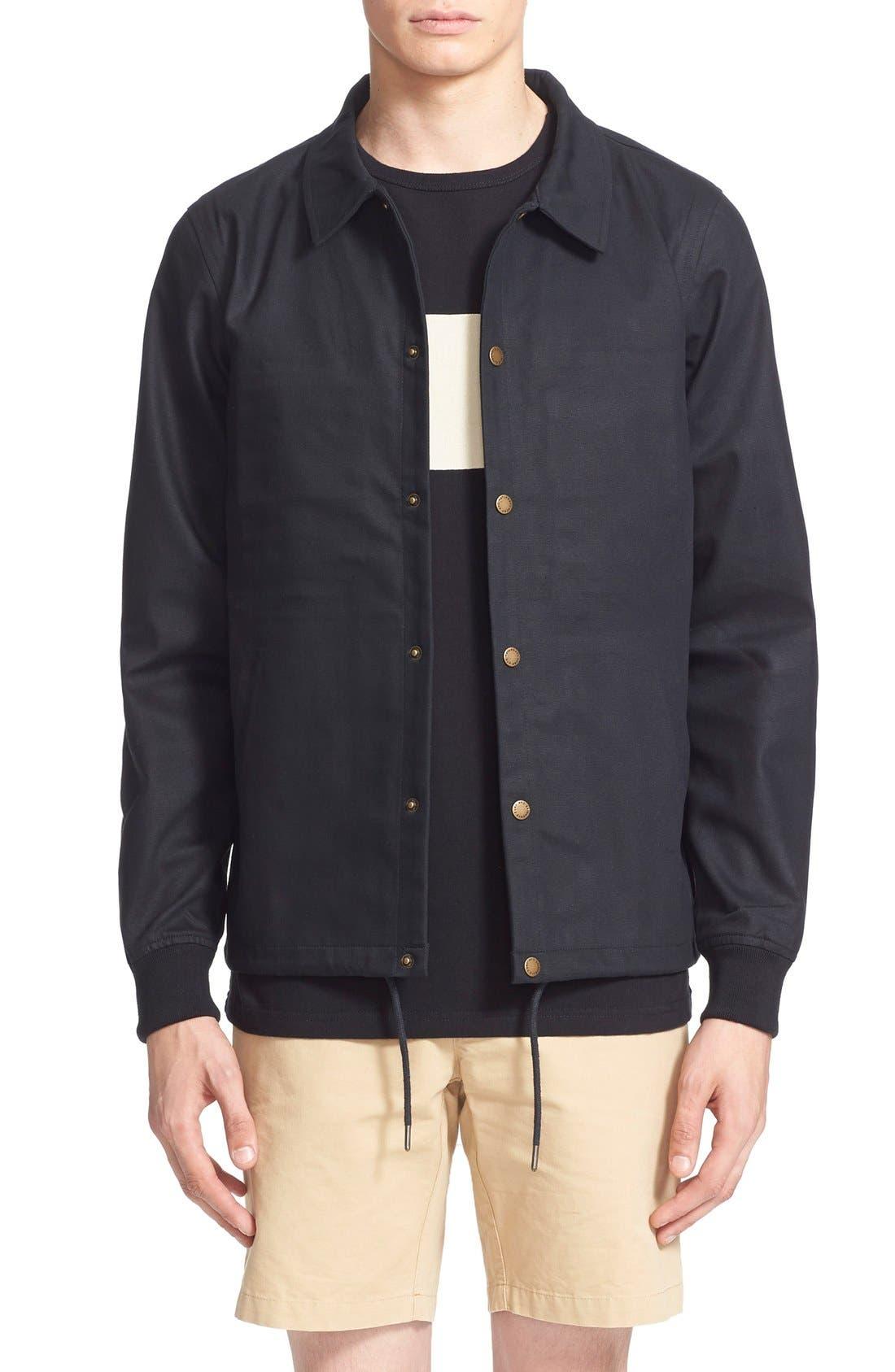 'Cooper' Bonded Cotton Poplin Jacket, Main, color, 001