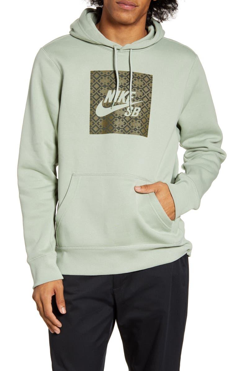 NIKE SB Nomad Hooded Sweatshirt, Main, color, JADE HORIZON/ MEDIUM OLIVE