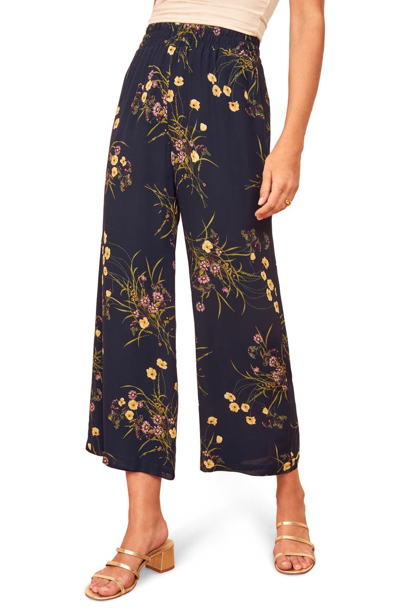 REFORMATION Foxy Ankle Wide Leg Pants, Main, color, MADEMOISELLE