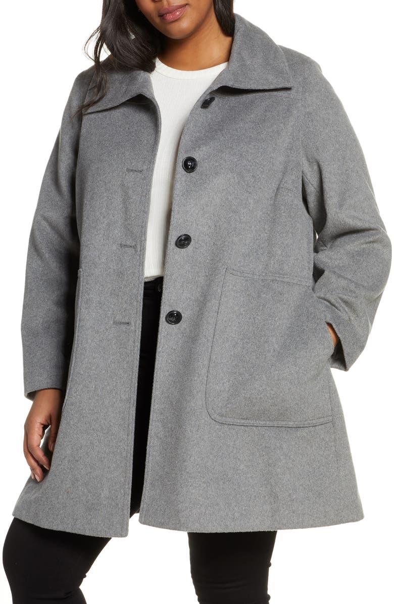 KRISTEN BLAKE Stand Collar Patch Pocket Coat, Main, color, 020