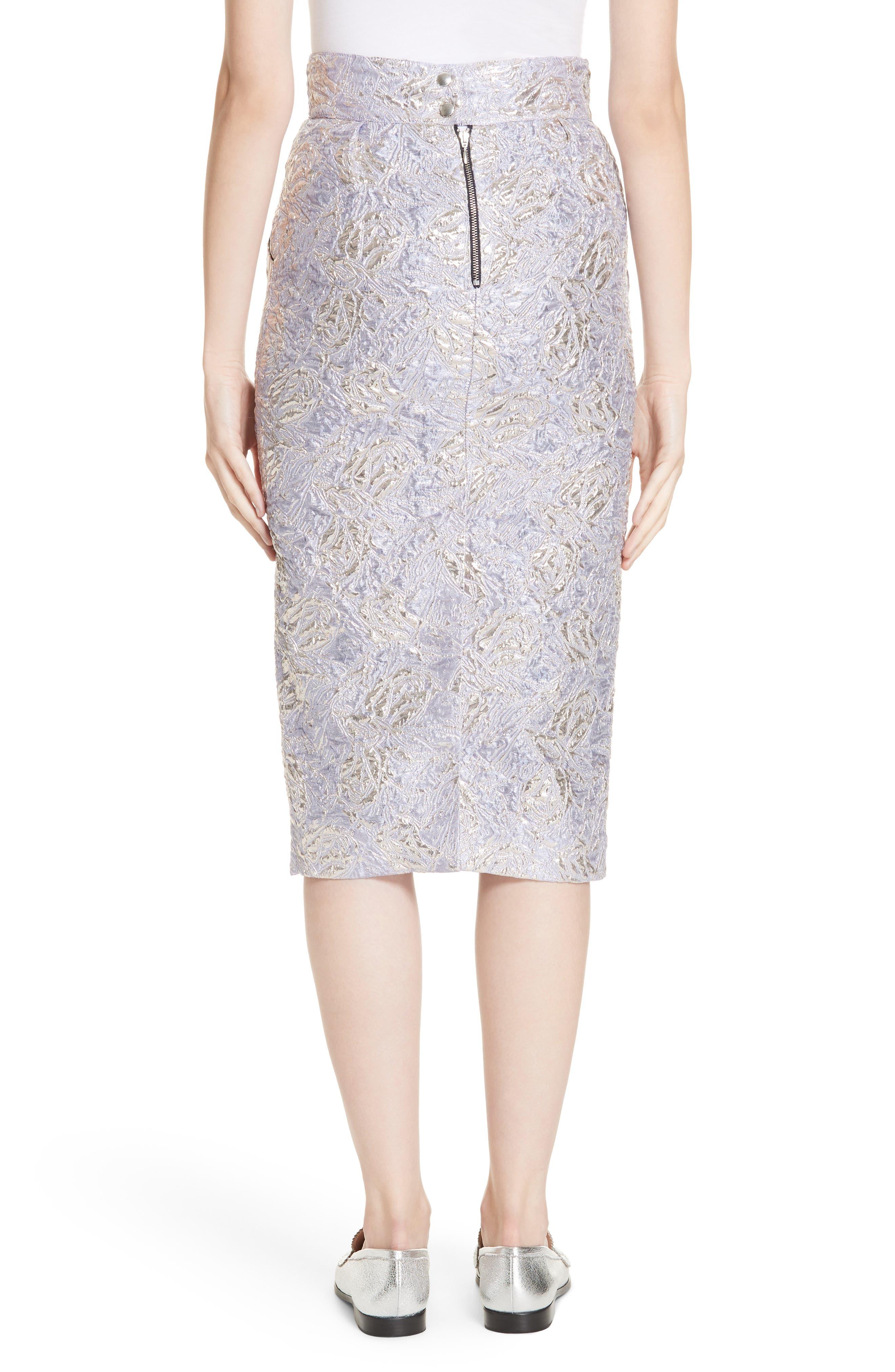 ,                             Lauren Brocade Pencil Skirt,                             Alternate thumbnail 2, color,                             LILAS