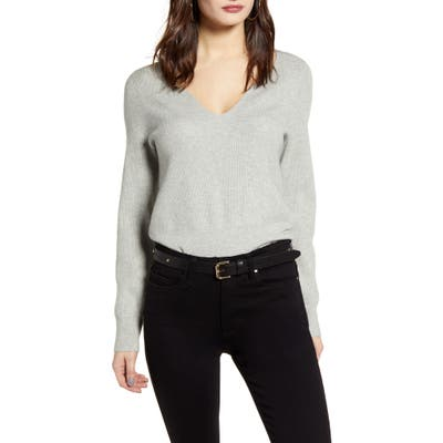 Leith Shaped Neck Sweater, Grey