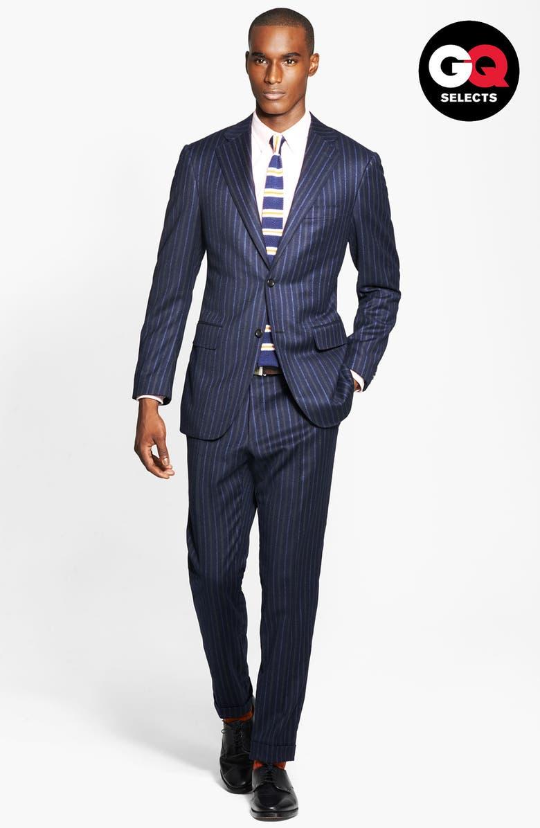 CANALI Chalk Stripe Suit, Main, color, 400