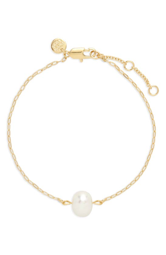 Brook & York Lola Imitation Pearl Pendant Bracelet In Gold
