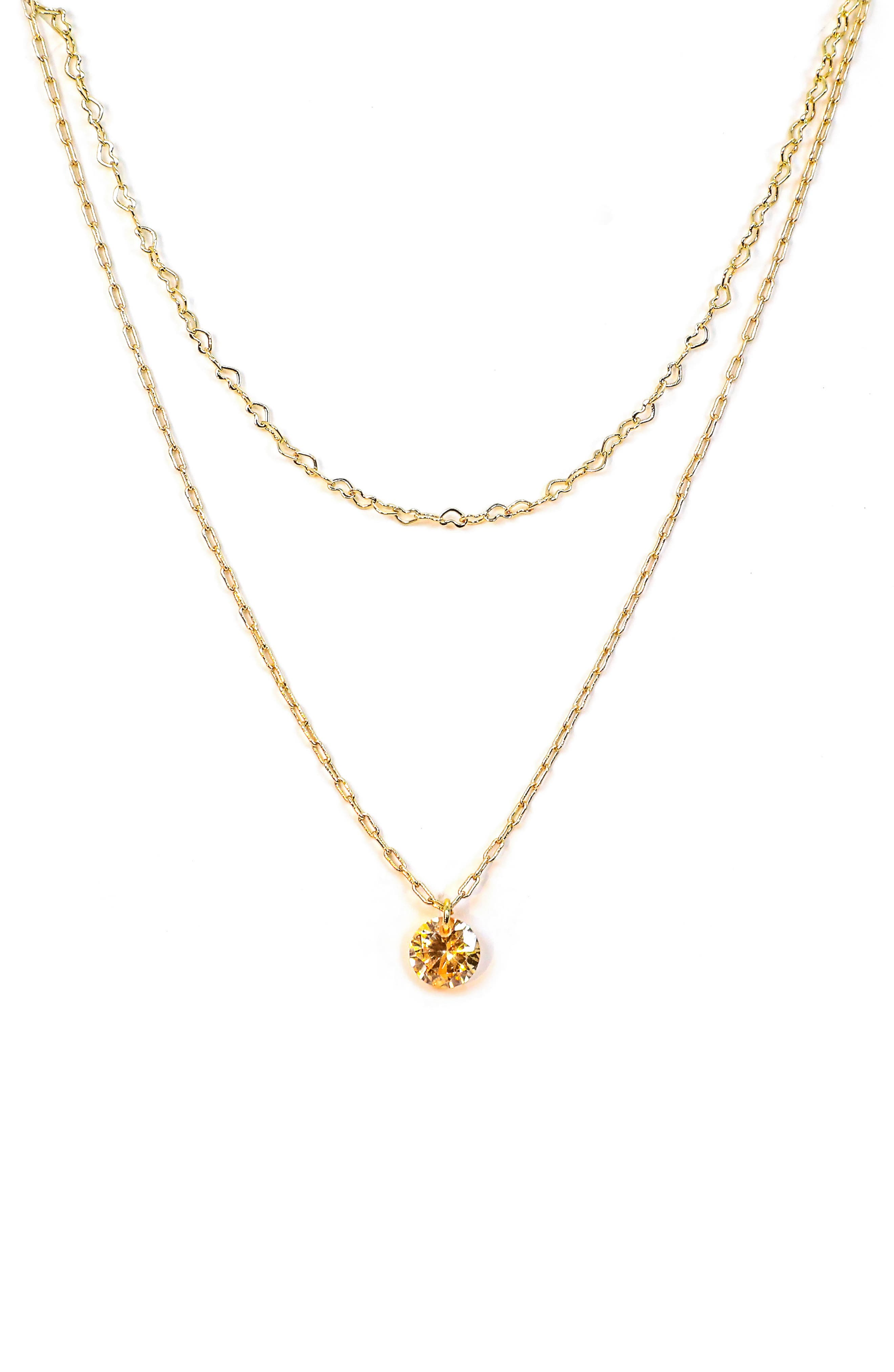 Flawless Layered Pendant Necklace