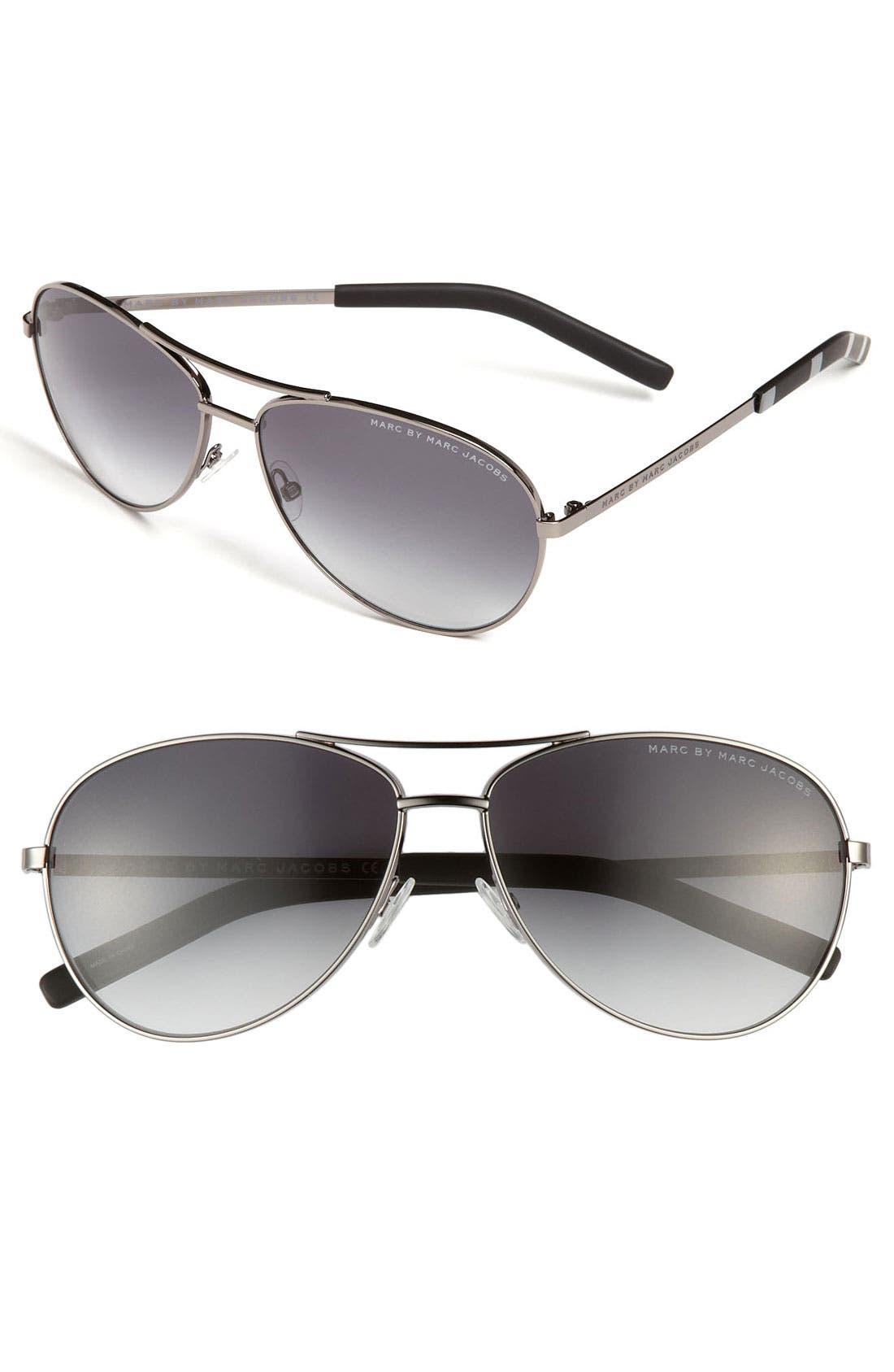 59mm Aviator Sunglasses, Main, color, 040