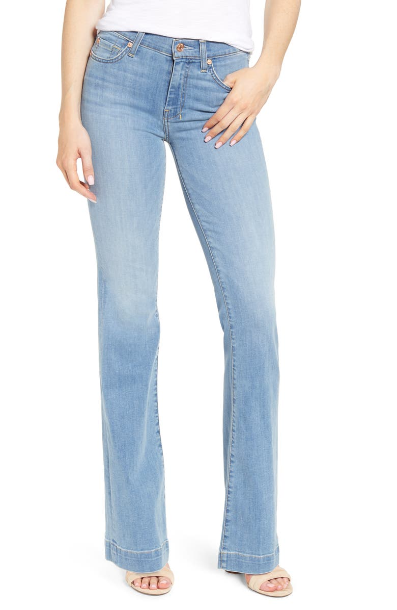 7 FOR ALL MANKIND<SUP>®</SUP> Dojo Flare Jeans, Main, color, COSMOPOLITAN