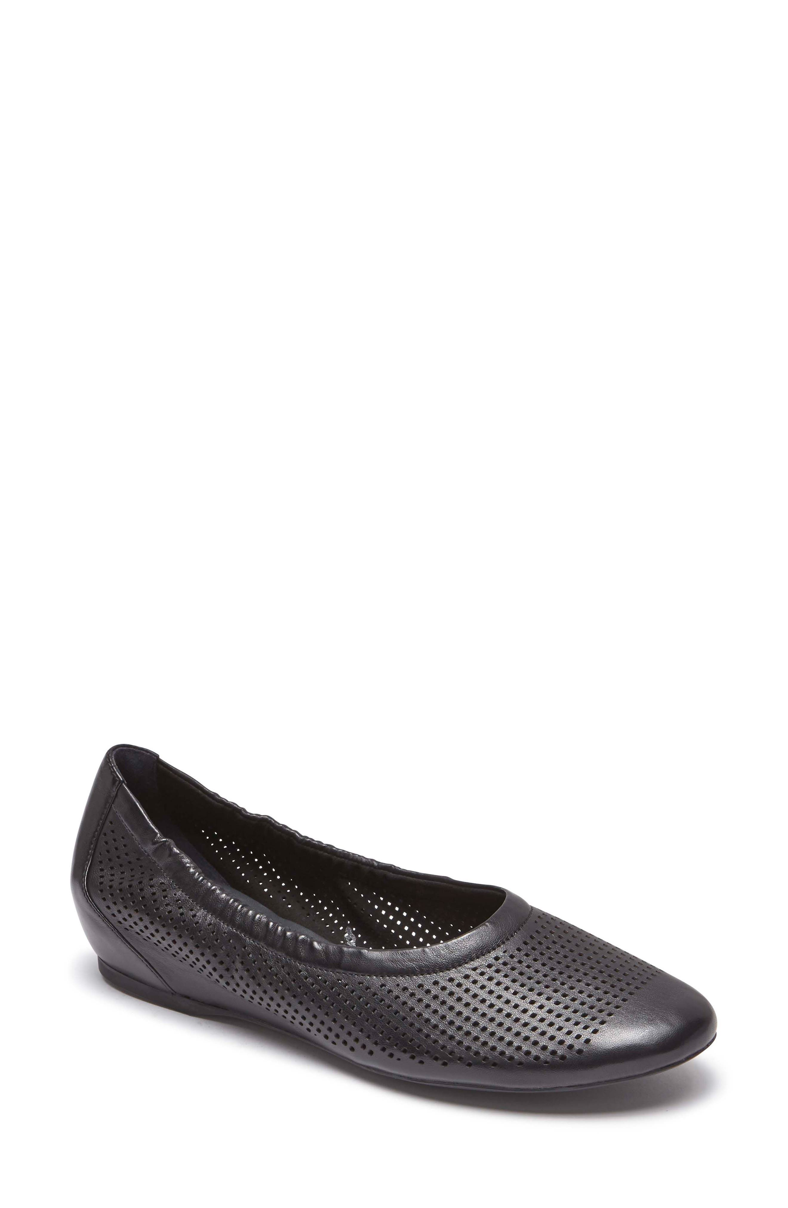 Rockport Total Motion Luxe Flat, Black