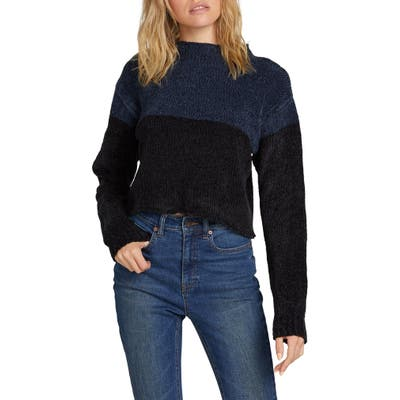 Volcom Madame Shady Chenille Sweater, Blue